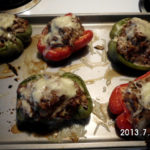 Cheesy Cauliflower Stuffed Peppers