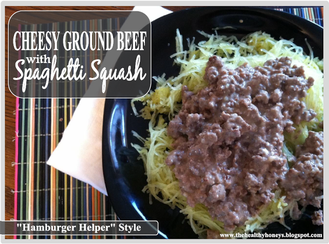 Cheesy Ground Beef with Spaghetti Squash