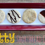 Nutty Shortbread Cookies with Chocolate Drizzle