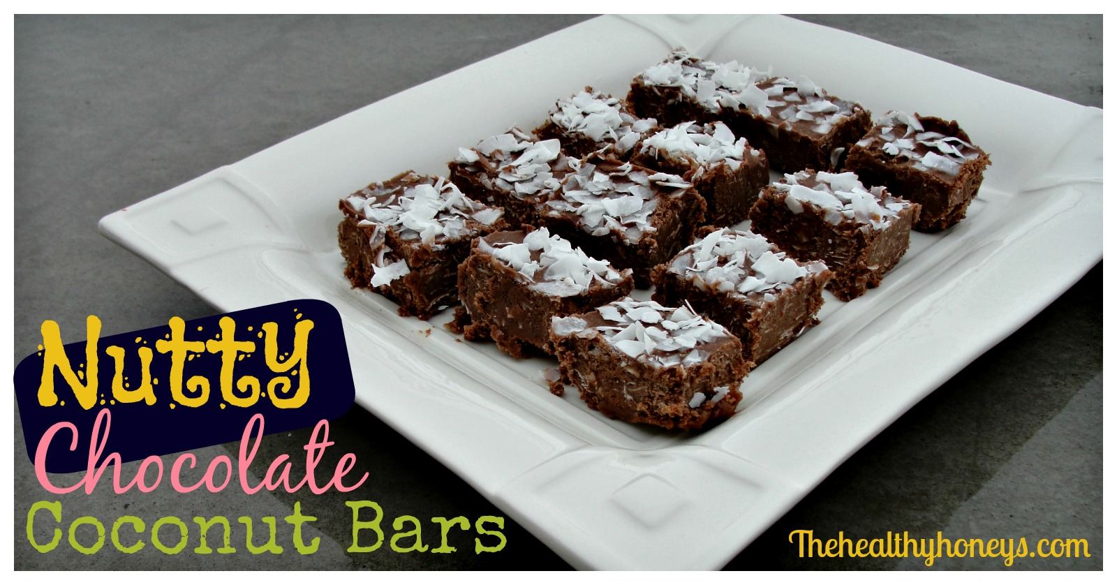 Nutty Chocolate Coconut Bars - The Healthy Honeys