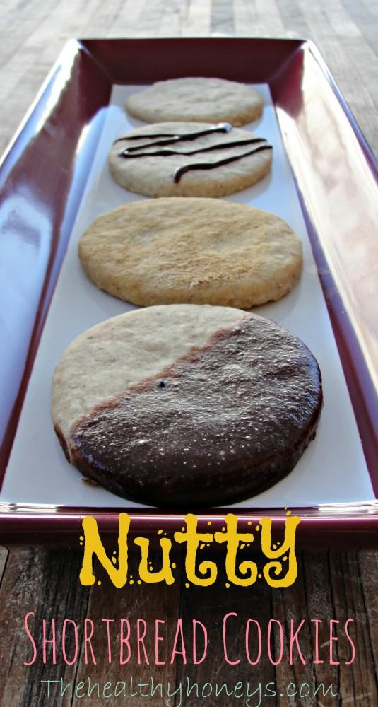 Nutty shortbread cookies