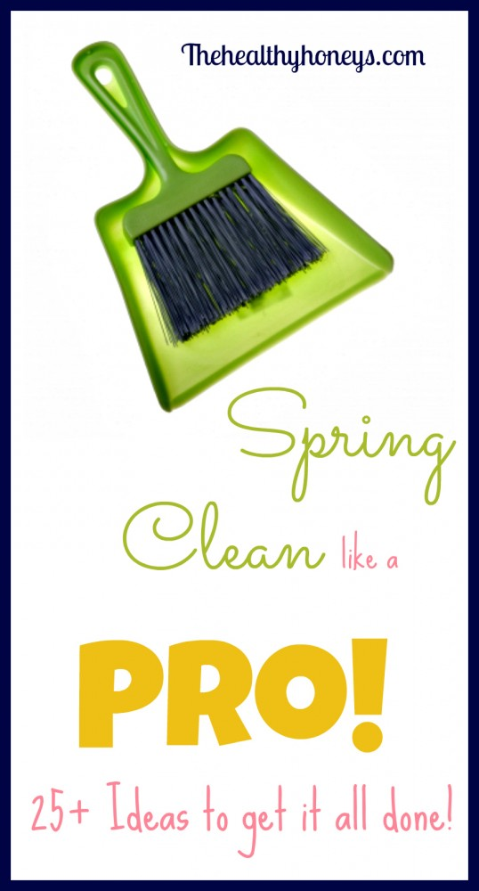 Spring cleaning list and printable