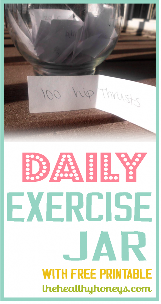 Daily exercise jar for body weight workouts