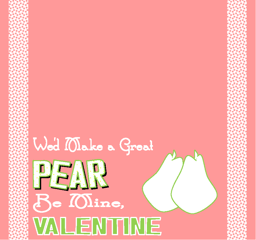 Healthy Valentine Treats pear