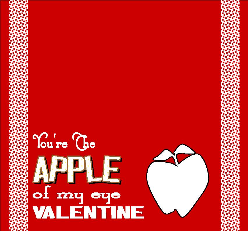 Healthy Valentine treats apple of my eye
