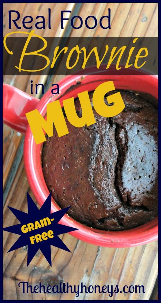 real food brownie in a mug