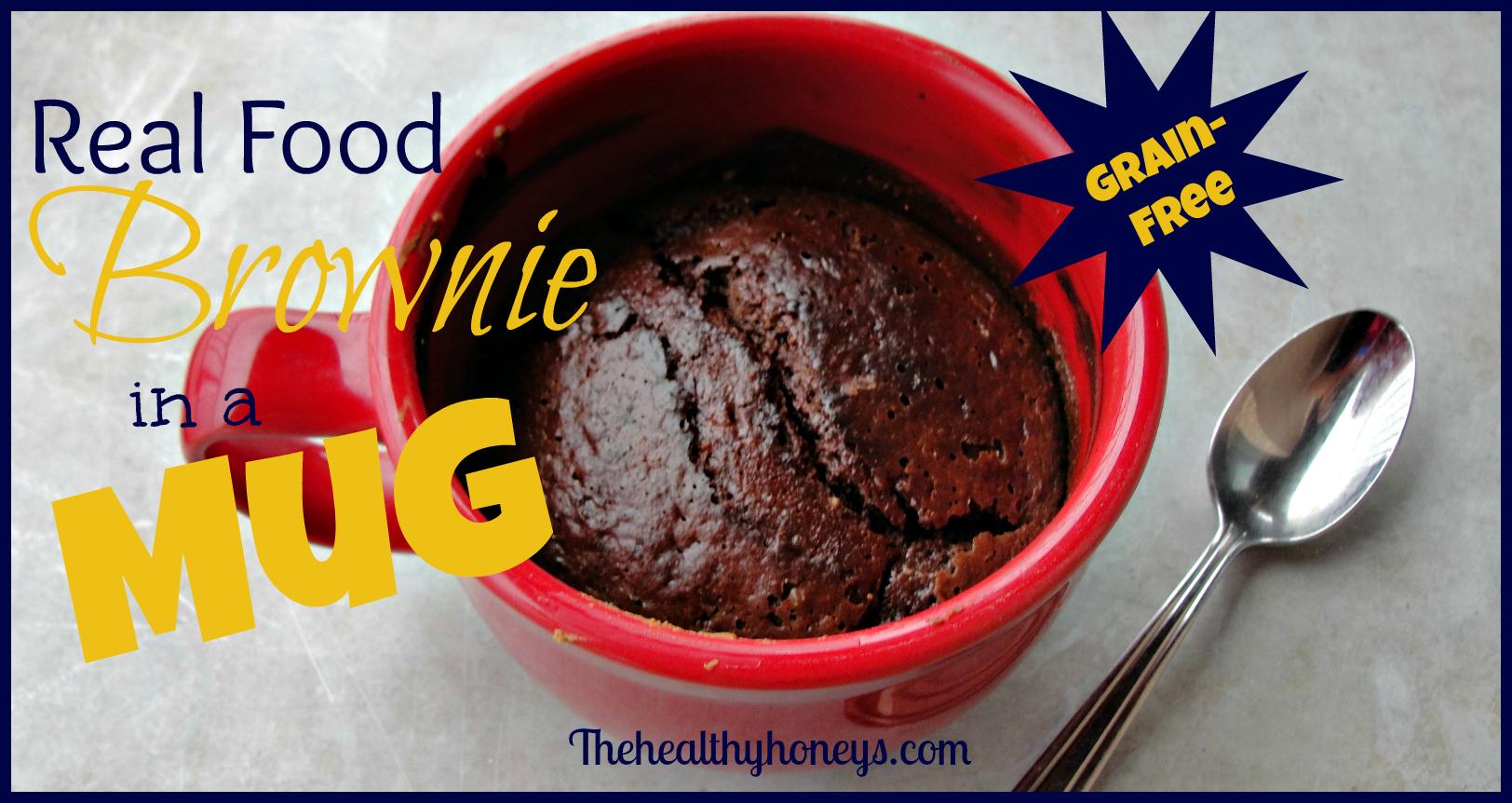 Real Food Brownie in a Mug, Grain-Free