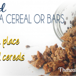Soaked Granola Cereal or Bars