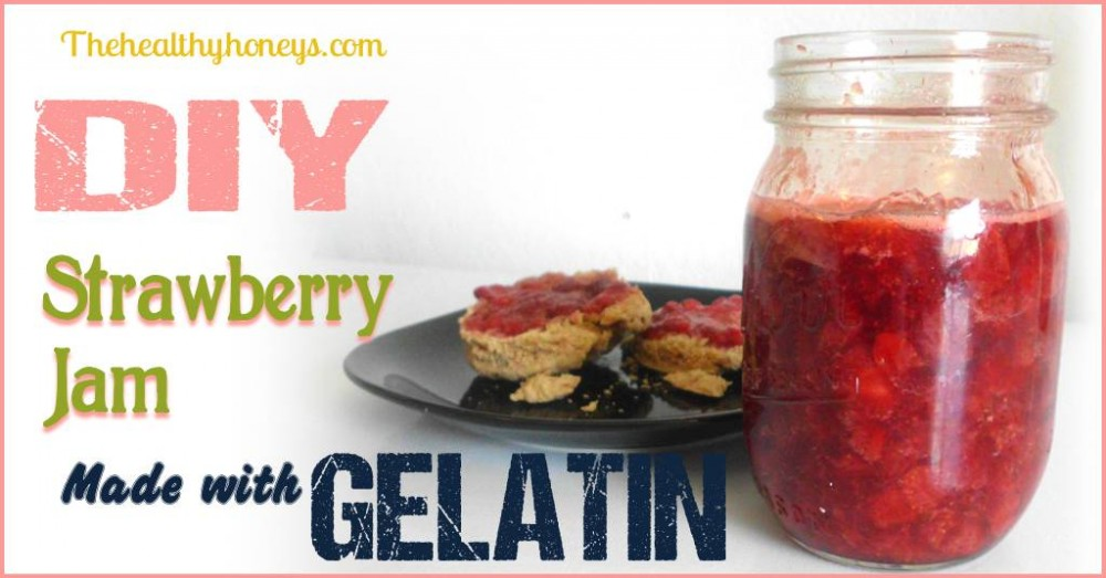 Strawberry Jam made with Gelatin