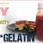 Strawberry Jam with gelatin