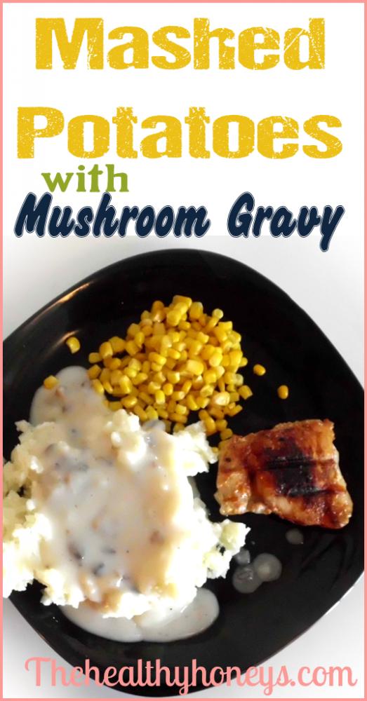 Mashed Potatoes with Mushroom Gravy
