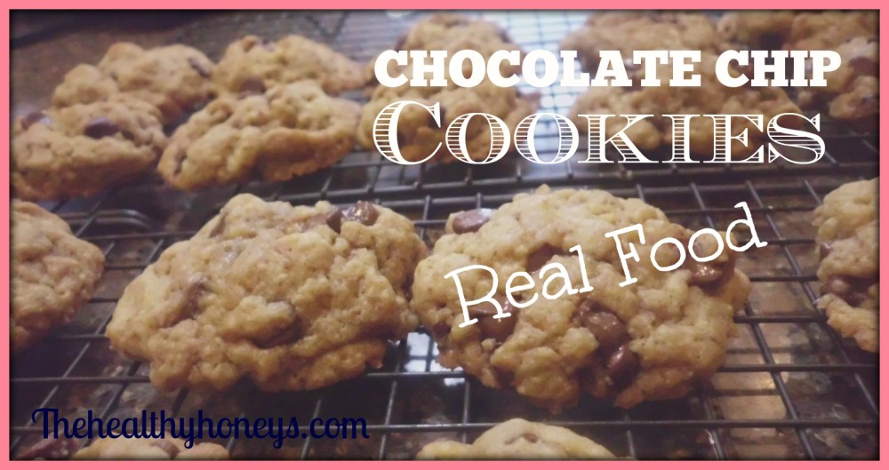 Real food chocolate chip cookies