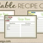 Real Food Recipe Cards: DIY, Editable