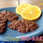 Orange Chocolate No-Bake Cookies