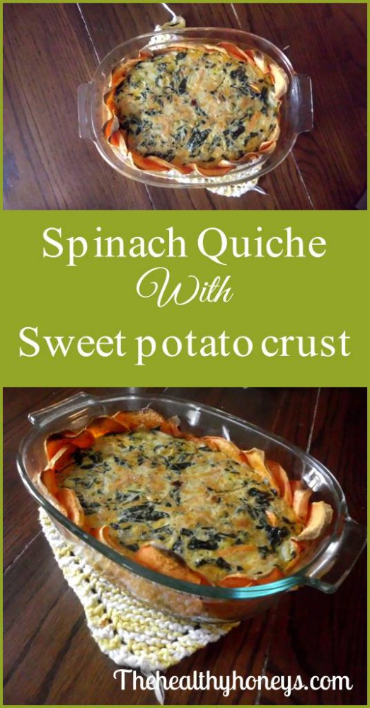 spinach quiche with sweet potato