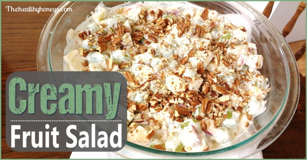 Healthy Fruit Salad with cream