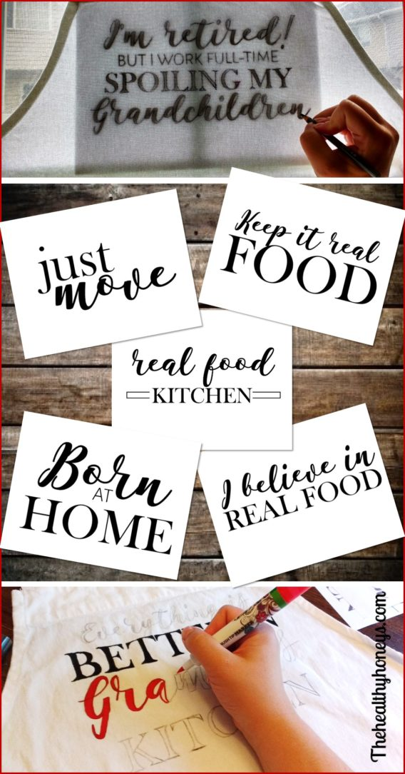 Real food quotes for apron