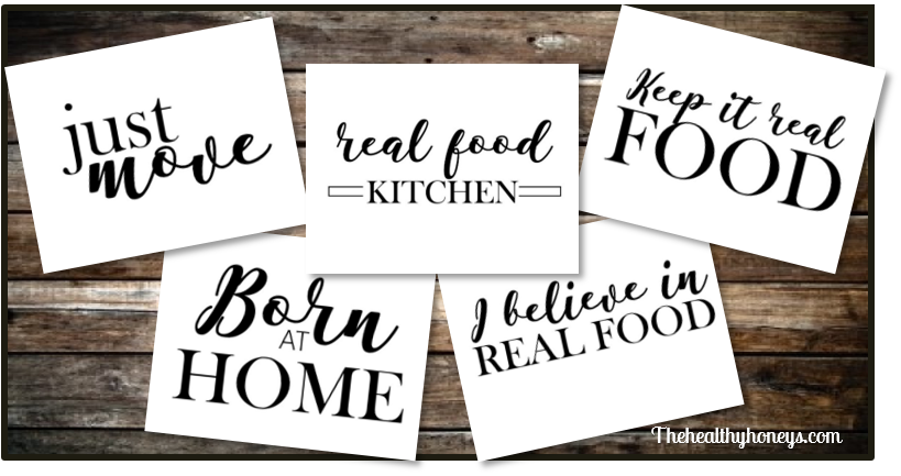 Natural Mama Real Food Quotes for Apron