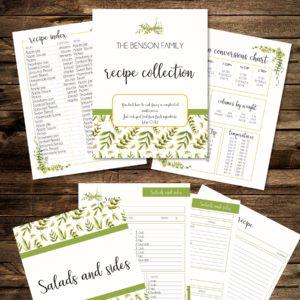 editable Recipe binder