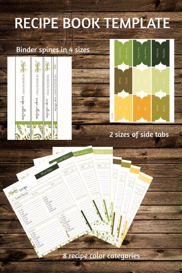 recipe binder printable
