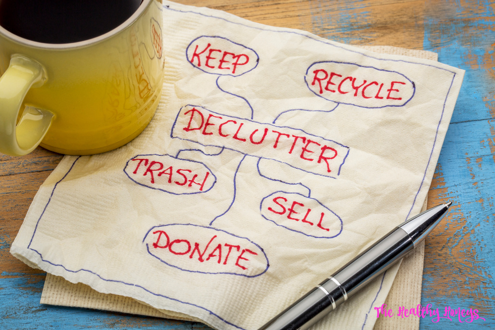 organized decluttering efforts