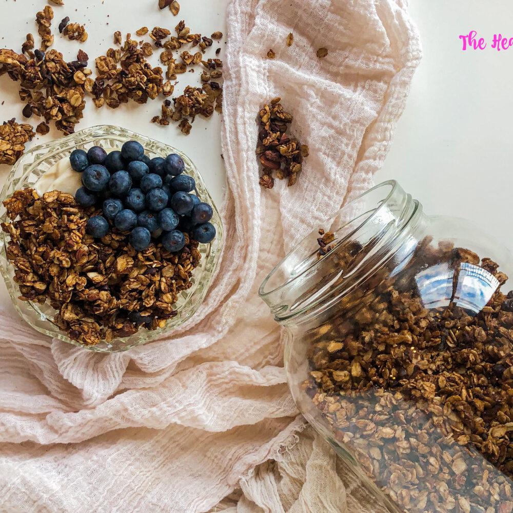 Chocolate and Sea Salt Granola (Vegan + Gluten-free)